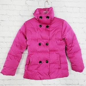Land's End Down Filled Puffer Coat Pink Size S 7-8